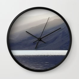 Shafts of sunlight at sunset of Crummock Water. Cumbria, UK. (Shot on film). Wall Clock
