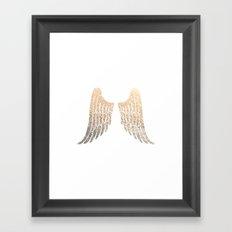 GOLD WINGS Framed Art Print