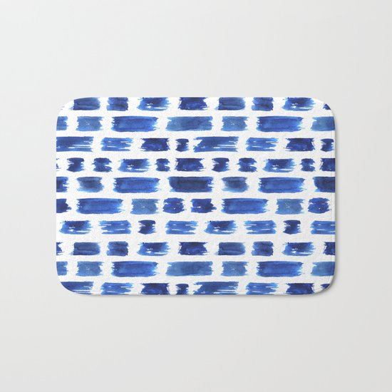 Ultramarine brushstrokes Bath Mat