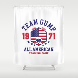 Team Gump Shower Curtain
