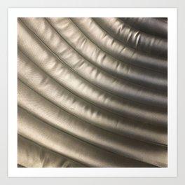 Silver Curve. Fashion Textures Art Print