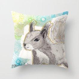 Eishörnchen Throw Pillow