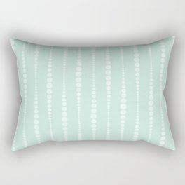 Mint and Off White Rectangular Pillow