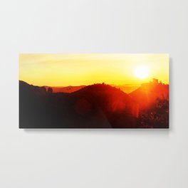 Scenic landscape and sundown Metal Print