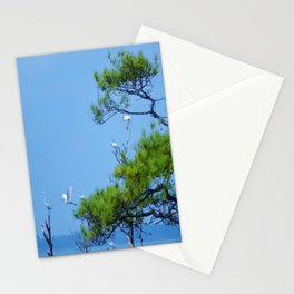 Flock of Cranes Stationery Cards