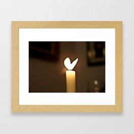Love candel Framed Art Print