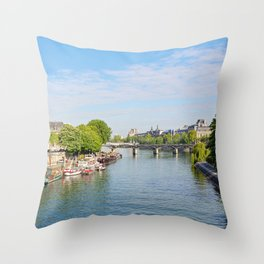 Afternoon Along The Seine Throw Pillow