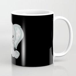 Sitting baby elephant smiling lovely kids gift Coffee Mug