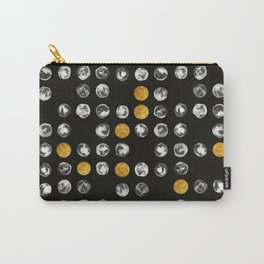 Full Moon Gold Binary Pattern Carry-All Pouch
