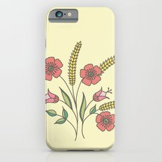 Floral placement on beige iPhone 6s Slim Case