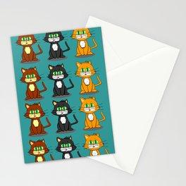 Cute Kawaii Cat illustration design Stationery Cards