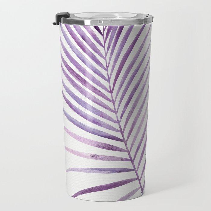 Purple Palms Travel Mug