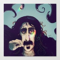 zappa Canvas Prints featuring Frank Zappa by womoomow