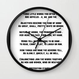 Adjective Wall Clocks   Society6