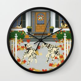 Autumn leaf game Wall Clock