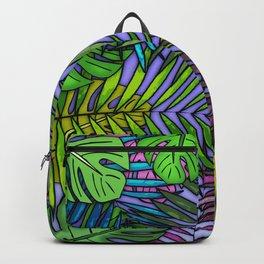 Palm & Monstera Leaves Backpack