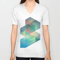 labyrinth V-neck T-shirts featuring Labyrinth by Crop Collective