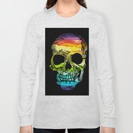 Rainbow Boho Skull I Long Sleeve T-shirt