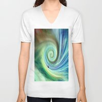 surf V-neck T-shirts featuring Surf by  Agostino Lo Coco
