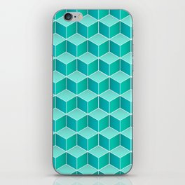 Ocean cubes, a symmetric pattern inspired by the sea. iPhone Skin