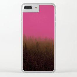 Pink & Chocolate Taffy Fog - Seward, Alaska Clear iPhone Case