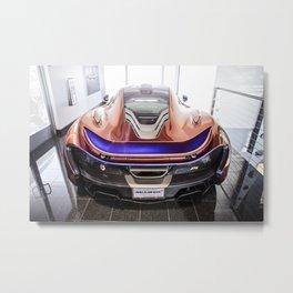 McLaren P1 - Cerberus Pearl - Rear Metal Print
