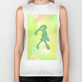 Bold And Brash Squidward Biker Tank