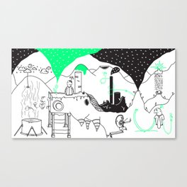 environmental digging Canvas Print