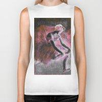 ballerina Biker Tanks featuring ballerina. by PureVintageLove