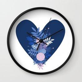 Feelings (Blue) Wall Clock