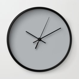 Best Seller Ultra Pale Grey Solid Color Parable to Jolie Paints French Grey - Shade - Hue - Colour Wall Clock