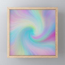 Soft Swirl Pattern Framed Mini Art Print