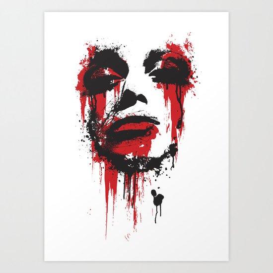 Paint Face Art Print