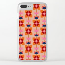 Retro floral pattern no4 Clear iPhone Case