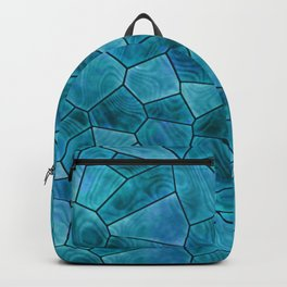 Swimming Pool Blue Stained Glass Design Backpack