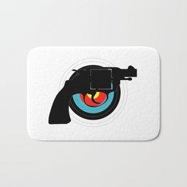Hand Gun Target Bath Mat