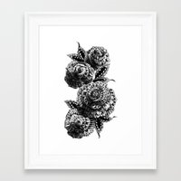 roses Framed Art Prints featuring Four Roses by BIOWORKZ