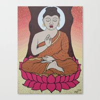 buddha Canvas Prints featuring Buddha     by Marjolein
