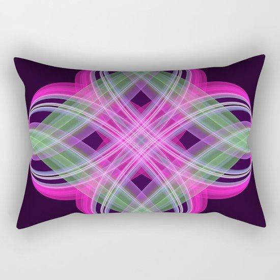 Four points decorative abstract design Rectangular Pillow