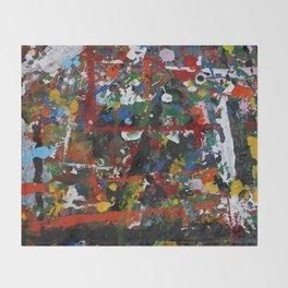 Painted sheet Throw Blanket