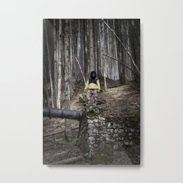 Ape stands silent in the woods Metal Print