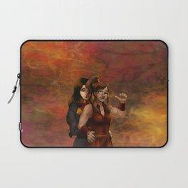 Fire Nation Korra and Asami Laptop Sleeve
