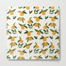 Gouache Oranges Metal Print
