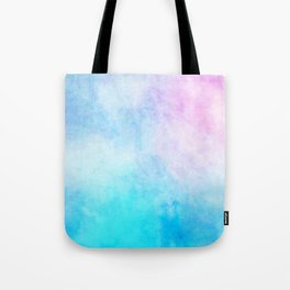 Baby Blue Pink Watercolor Texture Tote Bag