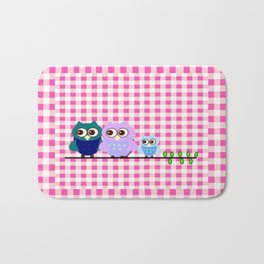 Pretty Owls  Bath Mat