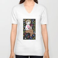 religion V-neck T-shirts featuring Religion by grace milk 💐