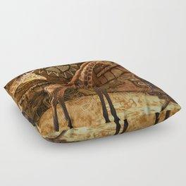 Three Giraffes Floor Pillow