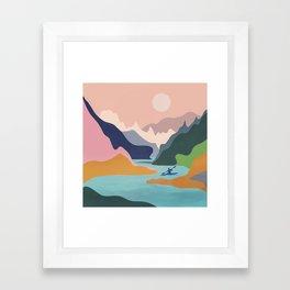 River Canyon Kayaking Framed Art Print