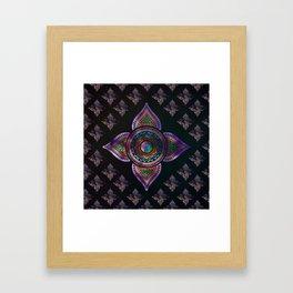 Beautiful  Yin yang in purple teal and orange Framed Art Print