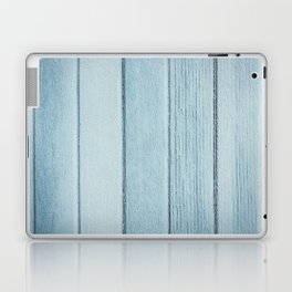 Texture fence rough blue wood Laptop & iPad Skin